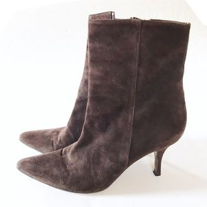 Cole Haan Italian Made Heeled Suede Booties